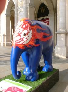 Blue elephant