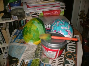 Découpage on Easter eggs
