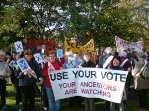 suffragettes march