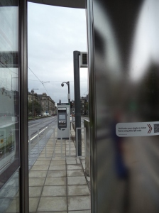 At the tram stop in Shandwick Place