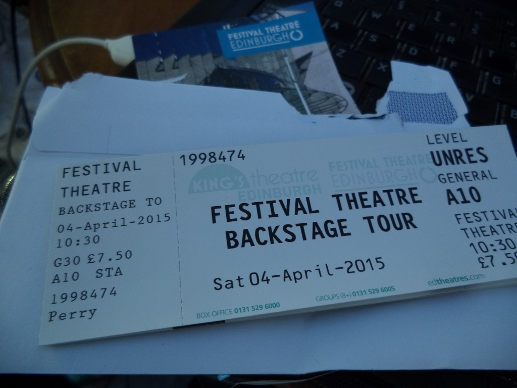 Backstage tour ticket